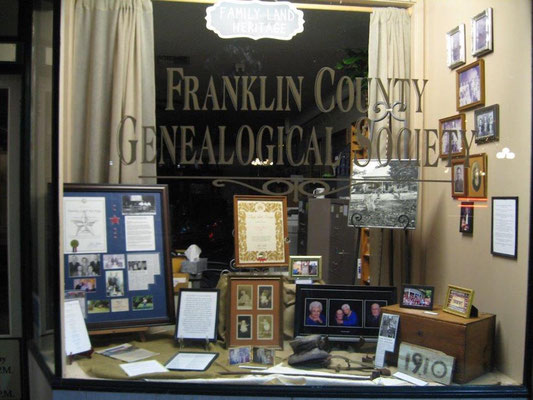FCGS Family Land Heritage window display, Sept. 2016