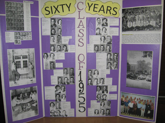 Class of 1955 60th reunion poster, from Sue Bolin.