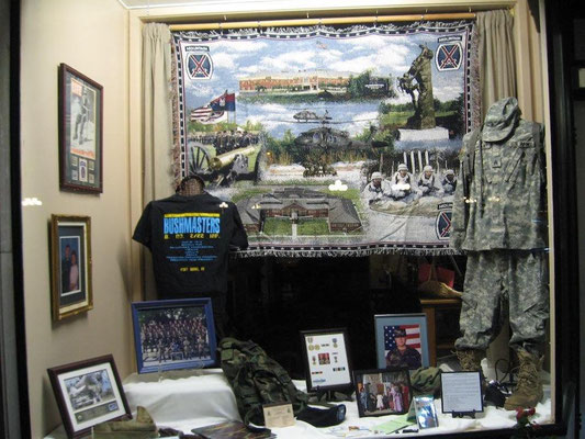 FCGS display of Christian VanArt, Iraq Veteran's Military keepsakes, Nov. 2016