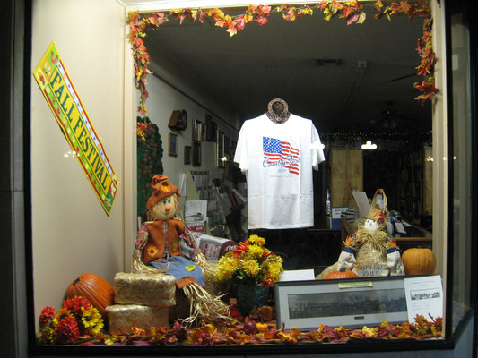 Fall window during COUNTRYFEST, by Linda Hammond.  (Photo by Sue Bolin.)