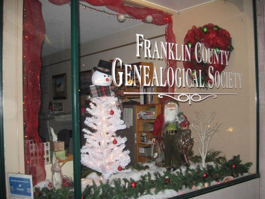 FCGS Christmas window display, Dec. 2017