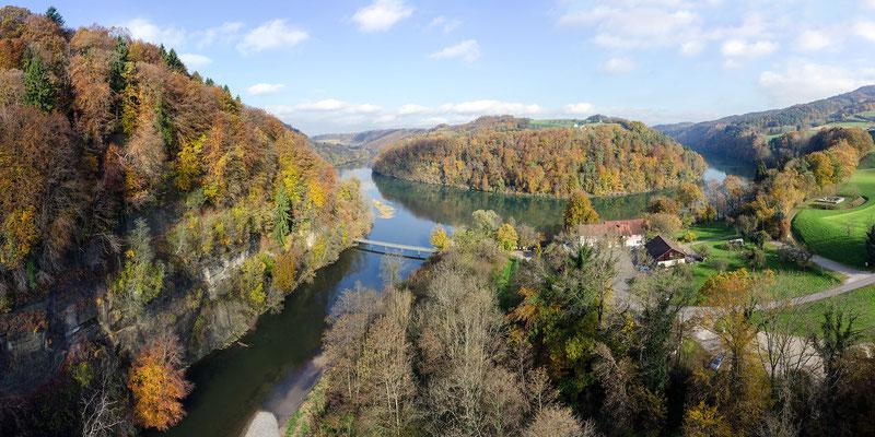 Einmündung der Töss in den Rhein