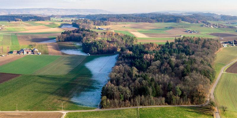 Kulturlandschaft östlich der Husemer Seen.