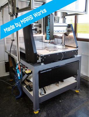 MARS Works / CNC-Portalfräse mit integriertem Vakuumtisch / Tätigkeit: Design, Konstruktion und Umsetzung