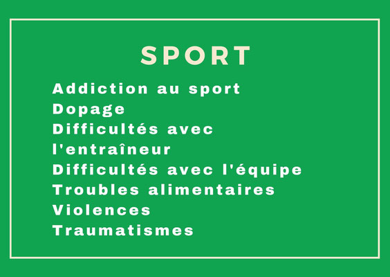 Addiction sport, dopage, psychologue sport