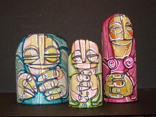 FAMIGLIA 2 - imballaggi di recupero - 2007 - 20x17x6