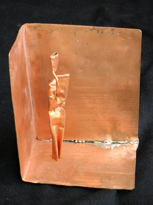 ALLEGORIA DELLA CAVERNA - 2005 - rame - 14x10x9