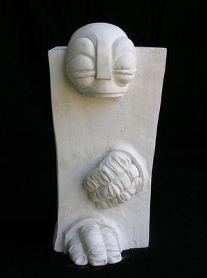 ENIGMA 1 - 2006 - gesso - 36x18x18