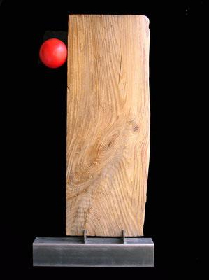 MONOLITE - 2006 - acciaio, legno, resina - 104x50x12