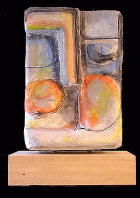 TESTA D'ARCHITETTO - 1998 - gesso policromo - 35x18x10