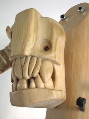 POVERO CRISTO - 2007 - legno di recupero - 84x80x26