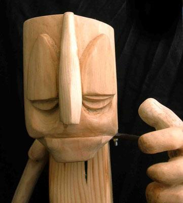 PINO FREAK - 2007 - legno di recupero - 55x40x25