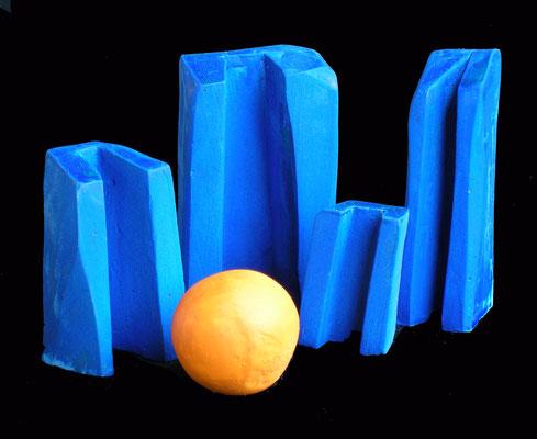 MICROMONOLITI 1 - 2003 - creta essiccata - 10x20x15