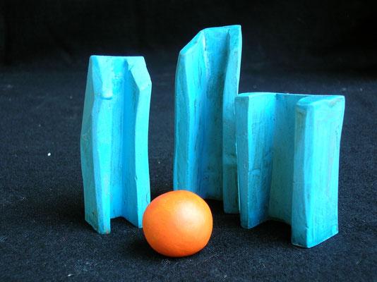 MICROMONOLITI 2 - 2004 - creta essiccata - 16x15x4