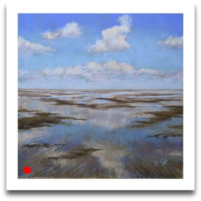 Schönwetterwolken, 20 x 20 cm