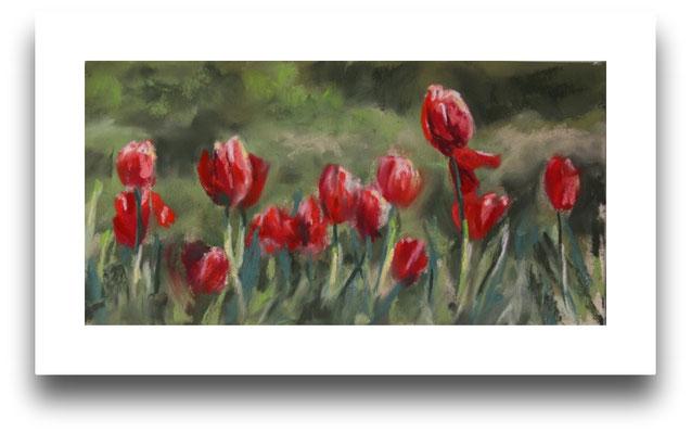 Tulpen im Park der Sinne, Skizze