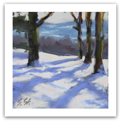 Schneelandschaft in Hagen a.T.W., Skizze