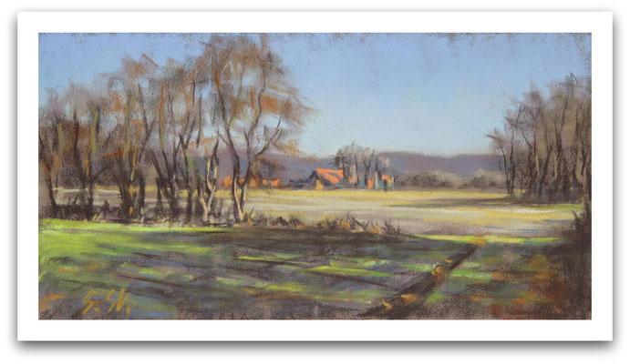 Die ersten warmen Tage, Westerwiede, 10 x 20 cm