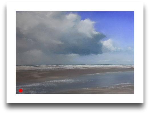 Ziehende Wolken, 35 x 50 cm
