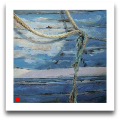An der Bordwand, 25 x 25 cm