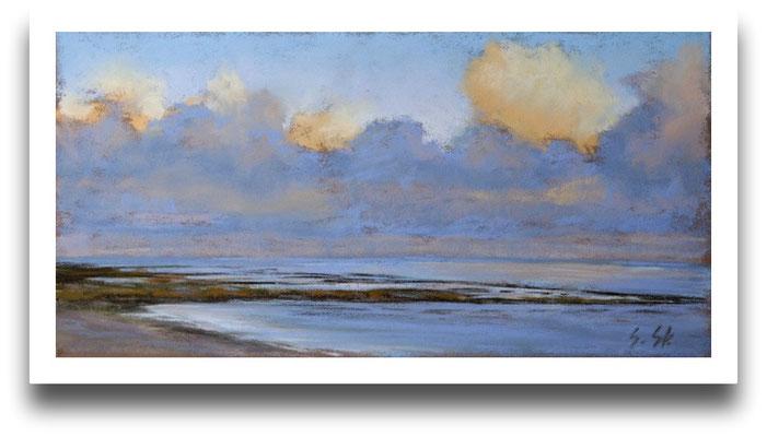 Wolkenglühen, 18 x 24 cm