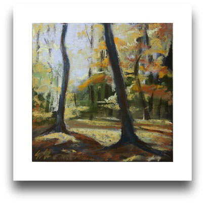 Eilenriede im Herbst, Skizze