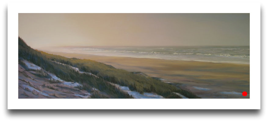 Winterabend, 28 x 75 cm