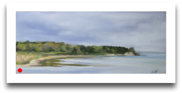 Blick zum Gelben Ufer, 10 x 24 cm