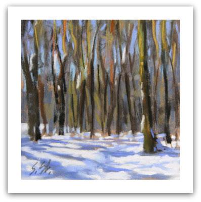 Schnee im Waldkurpark, Skizze