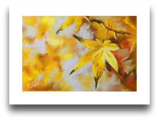 Herbstblatt, Skizze