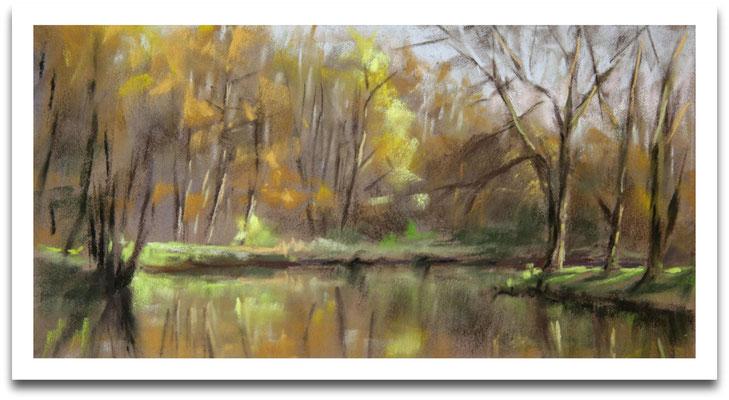 Herbst im Park, 11 x 21 cm