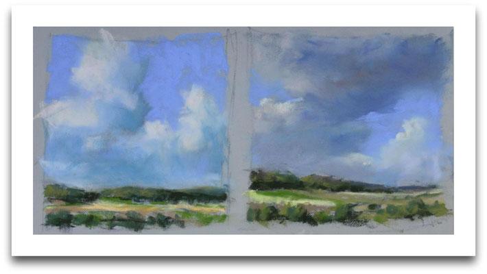 Wolken über dem Langenberg, Holperdorp, Skizze