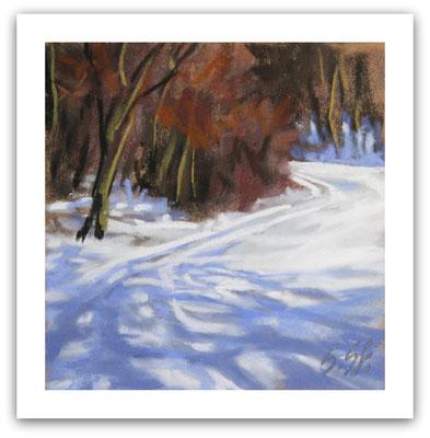 Winter in Bad Iburg, Skizze
