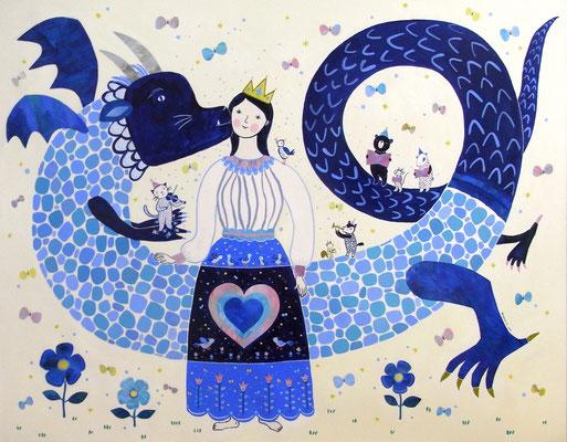 """青のドラゴンとお姫様 """"The blue dragon and the princess"""""""
