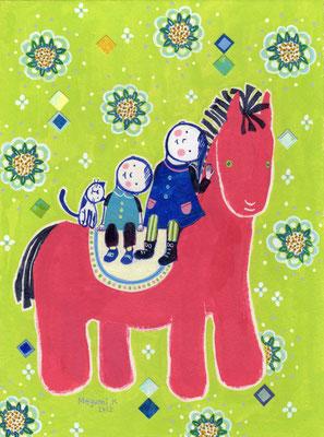 """ピンクのおうま """"The pink horse"""""""