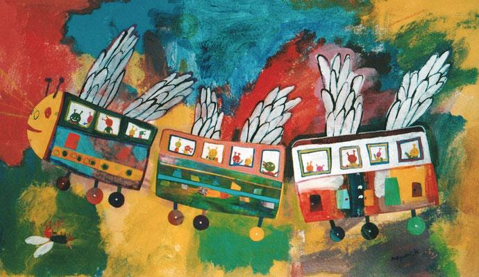 """こんちゅうのようちえんバス """"The insect kindergarden bus"""""""