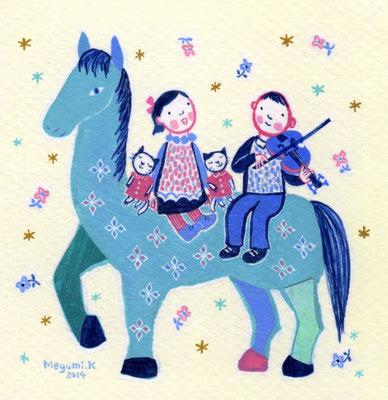 """おうまの上のコンサート """"The concert on the horse"""""""