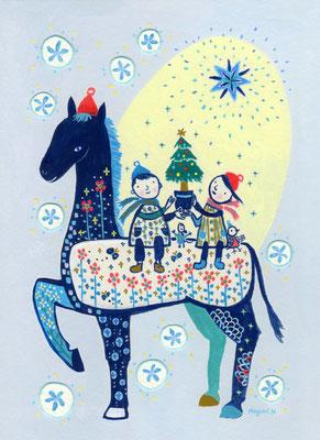 """クリスマスのお馬と私たち """"A Chiristmas horse and we"""""""