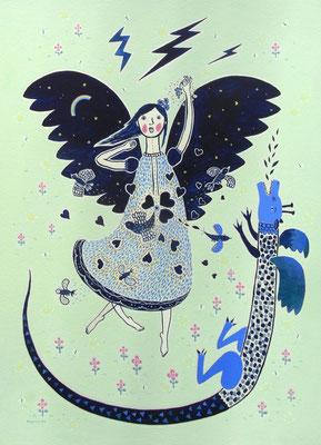"""その天使は、とうとう自己肯定のみをのみこんだ! """"Fainally, the angel swallowed a berry of self-affirmation !"""""""