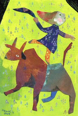 """うしの上でダンス """"Dancing on the cow"""""""