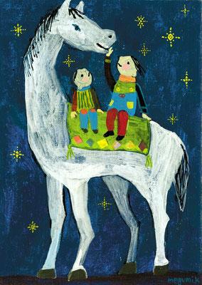 """よるのおうま """"The night horse"""""""