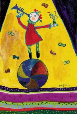 """玉のり・皿まわし """"Circus girl・circus mouse"""""""