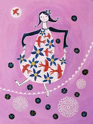 """うれしい時も、悲しい時も、怒れる時も彼女は踊る """"She dances when she is happy,sad and angry"""""""
