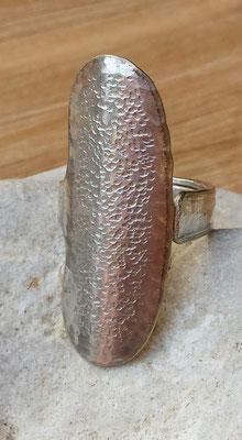 Ring aus Besteck Silber