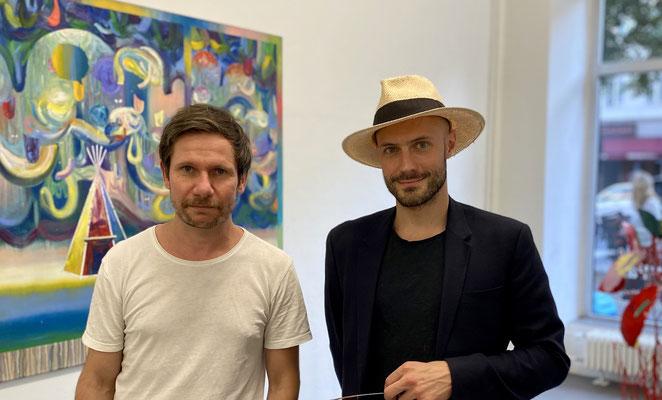 Matthias Moravek und Alexander Skorobogatov. Prospect ParkEröffnung am 2. Juli 2021 . Axel Obiger Berlin