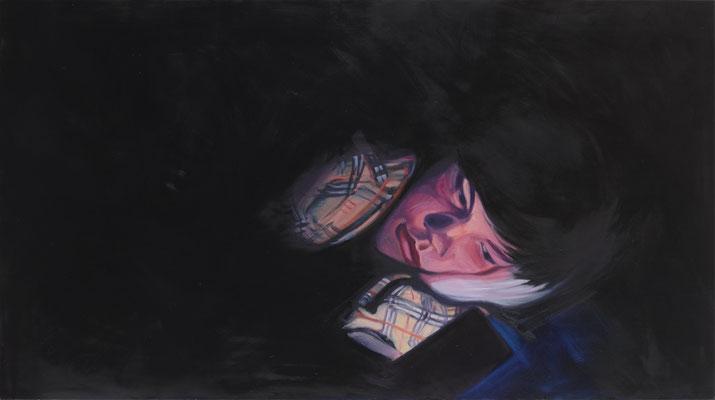 "Alke Brinkmann,  ""Kind XIV, Edgar"", 2021, Öl auf Leinwand, 130 x 230 cm"