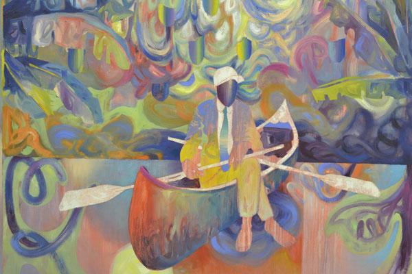 """Matthias Moravek """"Tropique"""",  Öl /Lack auf Leinen, 170x140 cm, 2020"""