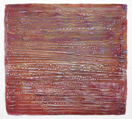 Enrico-Niemann, Ripple II, 2019, Mischtechnik auf Papier, 75 x 82 cm