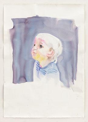 "Alke Brinkmann, ""Kind IX, Nathan"", 2010, Mischtechnik auf Bütten, 107 x 75 cm"