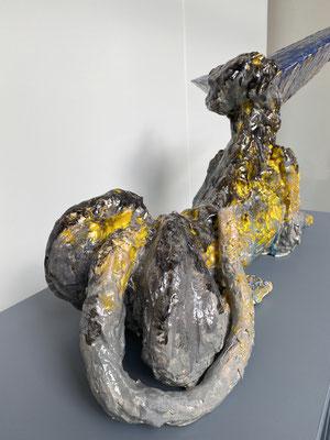 Jeroen Cremers, The guardian 1, glazed ceramics, 2021, 90 x 35 x 65 cm